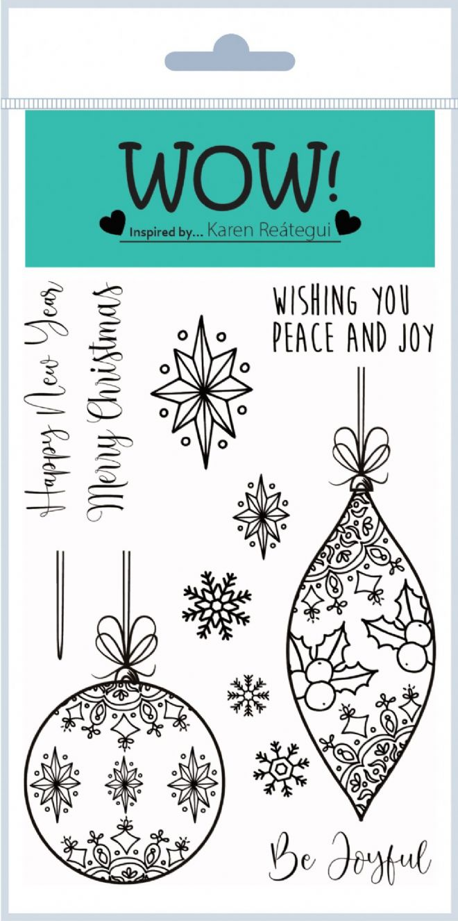 Christmas Baubles (by Karen Reátegui) - Clear Stamp Set
